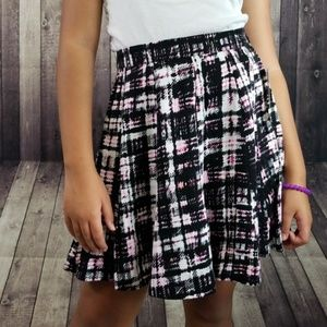 Decree Uptown Pink Tartan mini skater skirt NWT